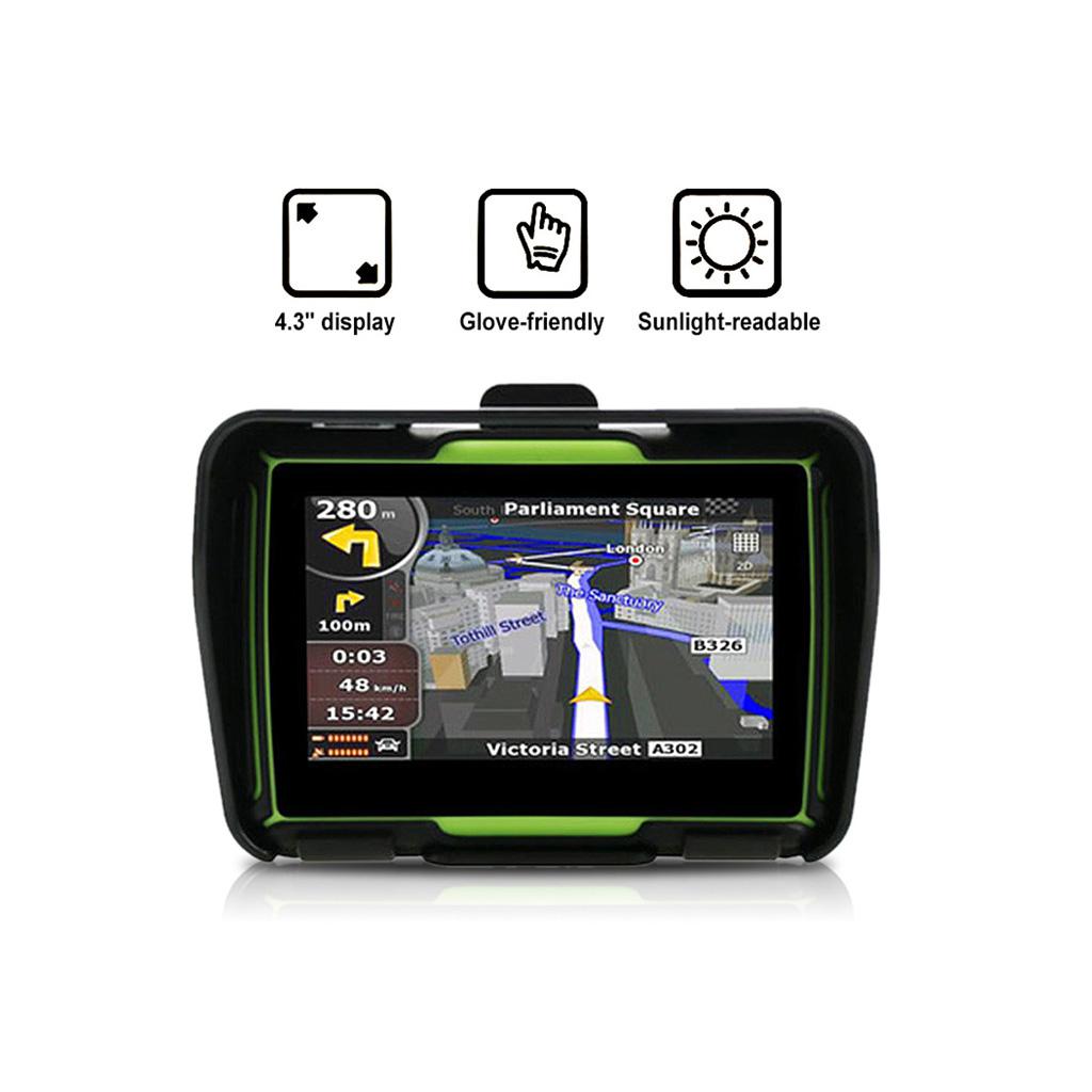 GPS Navigation SAT NAV Bluetooth pour Voiture Moto Vélo Etanche CE6.0