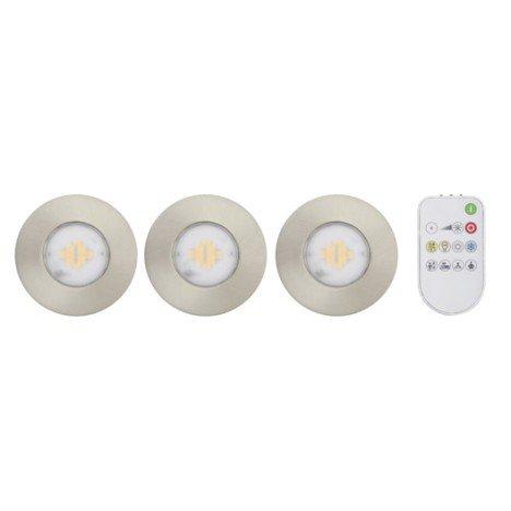 Kit 3 spots à encastrer salle de bains Idual fixe led LED intégrée