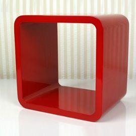 Étagère Cube Murale Rouge Pegane pas cher