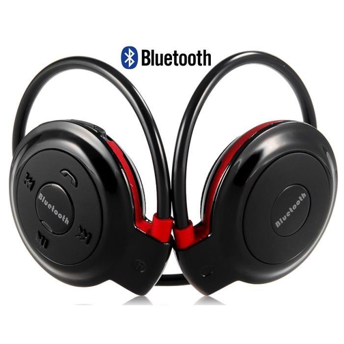 Mini 503 sans fil Bluetooth Casque stéréo avec microphone (noir
