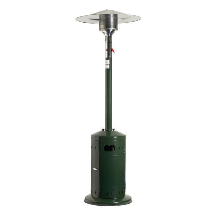 Parasol chauffant gaz COSY PROFI Vert Ecoline / FAVEX. Ce parasol est