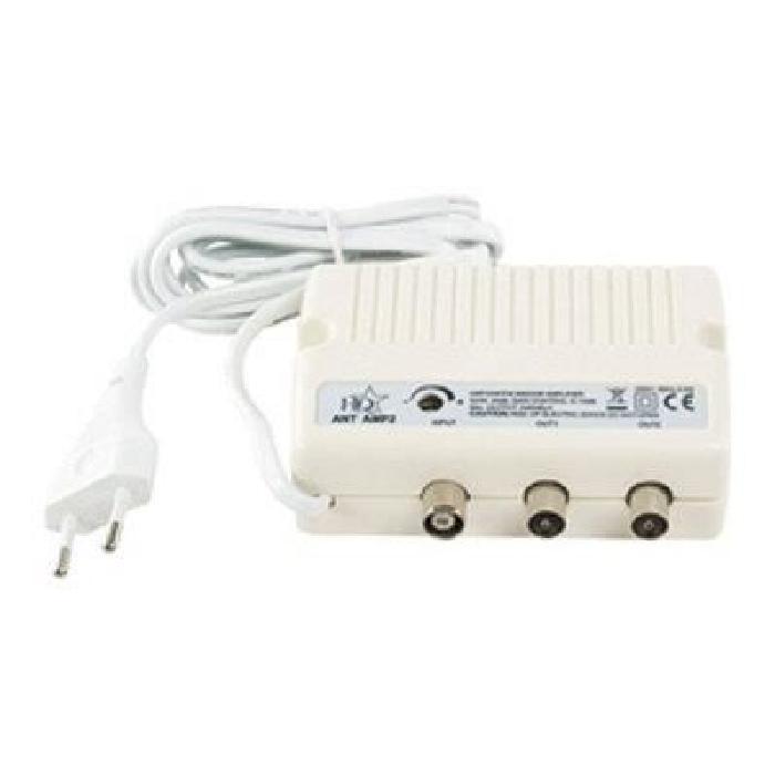 Amplificateur TV avec 2 sorties et contrôle gain.Caractéristiques