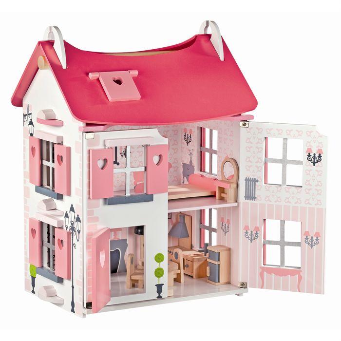 Maison de Poupée Mademoiselle + 15 accessoires Achat / Vente maison