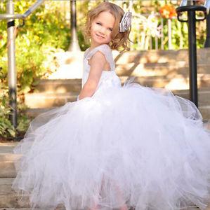 2015 Nouveau Joli Robe Tutu Longue Robe Mariage Sans Manche Enfant
