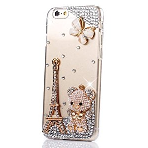 Semoss 3D Bling Cristal Strass Ours Coque Swag pour Apple iPhone 6 (4