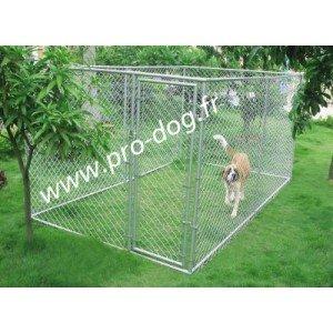 Dog kennel Chenil parc enclos chien 3,96×2,29xh1,83m envoi gratuit