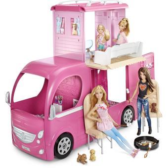 Poupée Barbie avec accessoires Camping Car Duplex Poupée Acheter