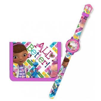 Docteur la peluche coffret cadeau montre + portefeuille docteur la