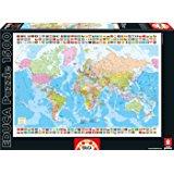 Educa 16301 Puzzle Classique Carte Du Monde 1500 Pièces