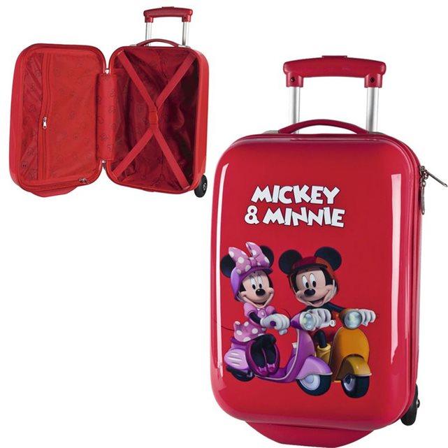 Valise coque rigide minnie et mickey couleur unique Jouceo | La