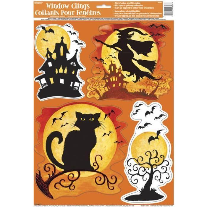 Décoration Halloween Sorcière pour Vitres Achat / Vente déco de