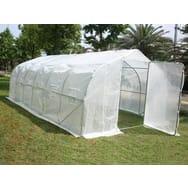 Serre tunnel de jardin Mimosa 2 blanc 18 m² 6 x 3 x 2 m