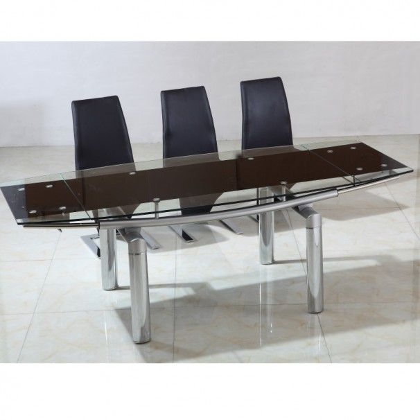Table en verre à rallonges extensible Nova 220/150