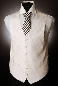 ivoire pour homme avec gilet rose pale Diamant Mariage Robe Costume