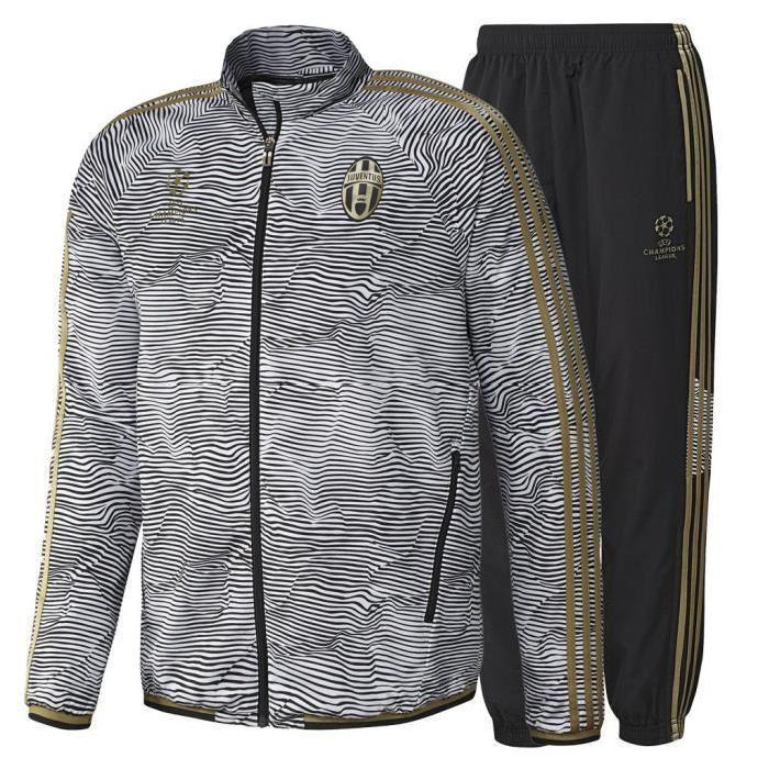 Survêtement UCL Juventus de Turin 2015/2016 Blanc Achat / Vente