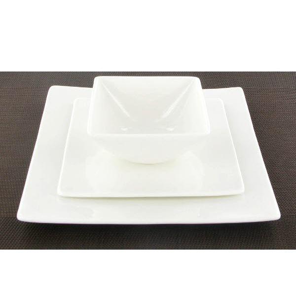 Service Assiette Carree Blanche