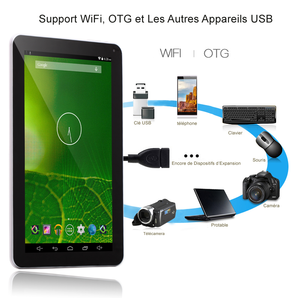 Irulu 10 1″ Android 5 1 Lollipop Quad Core 1GO 16GO 5500mAh Tablette