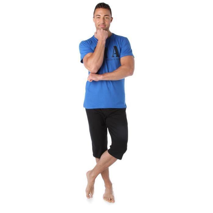 Pyjacourt imprimé message Bleu Achat / Vente pyjama chemise de