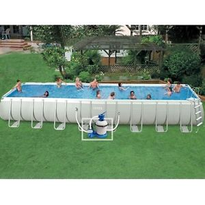 Piscine hors sol tubulaire Ultra Silver Intex 9M75 x 4M88
