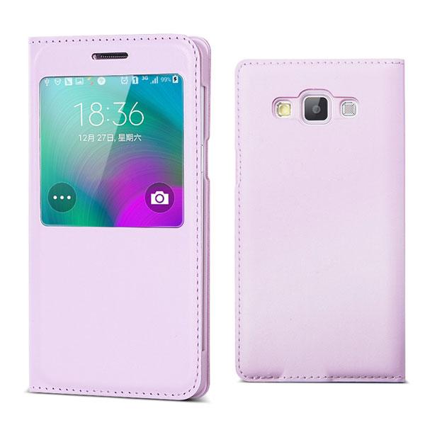 Etui Coque Flip Leather S View Case Cover pour Samsung Galaxy A3 A5 A7