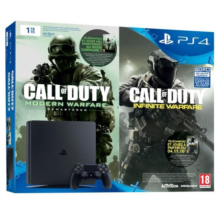 Vente console ps4 nouveauté PS4 1To Noire + COD Legacy