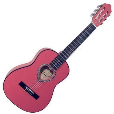 Guitare Classique 1/4 Rose Pour Enfant Rosace En C?ur Guitare