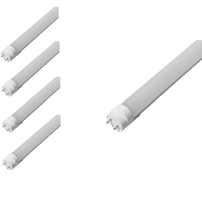 Veolight Tube Fluorescent LED Néon Culot G13 T8 Lot de 4 Néons