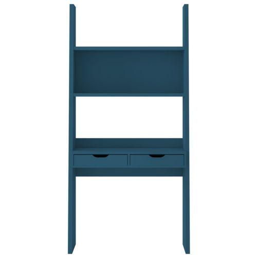 Alinéa Yolo Bureau étagère à 2 tiroirs bleu pas cher Achat