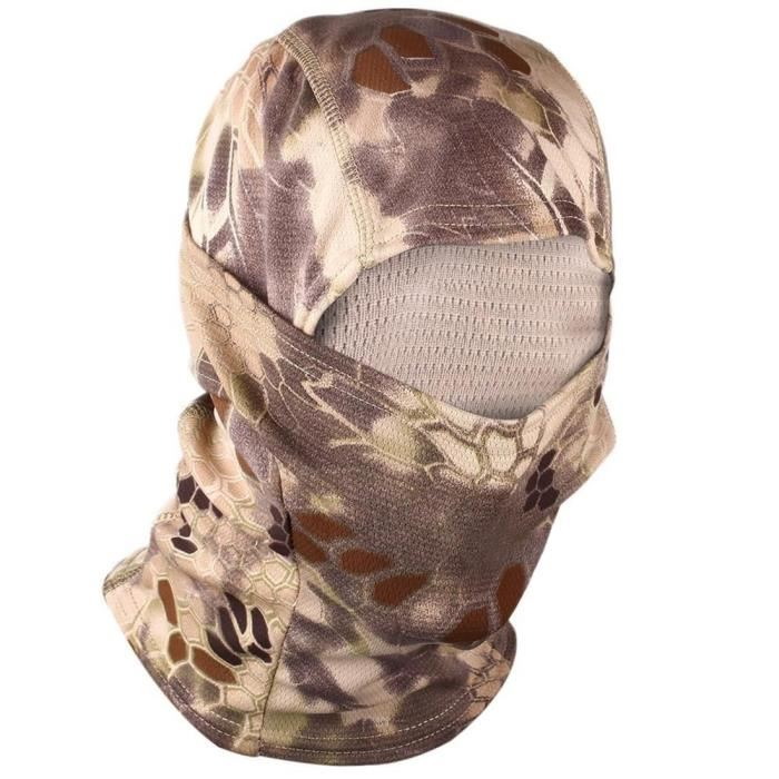 Bonnet 1 Trou CAMO Protection pr Airsoft Snowboard Chasse Scooter