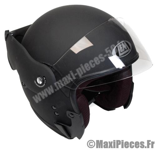 Déstockage casque modulable LEM modulaire 55 56cm taille S noir mat