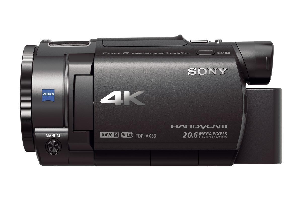 Sony FDR AX33 Caméscope 4K Zoom Optique 10x 18.9 Mpix