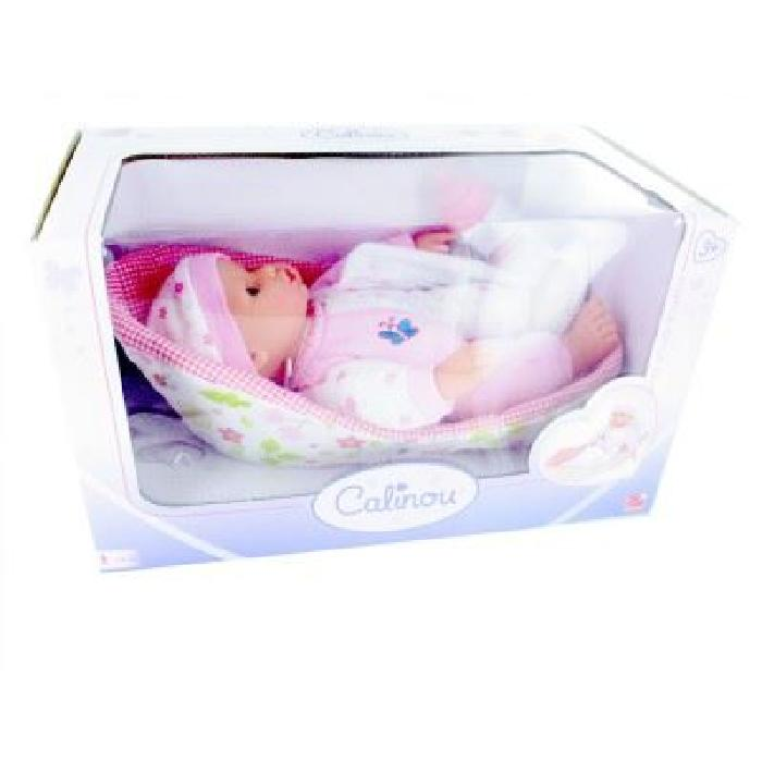 Bébé dans son couffin sans anses : rose Achat / Vente poupon