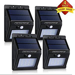 16 LED Lampe solaire Jardin étanche Eclairage exterieur