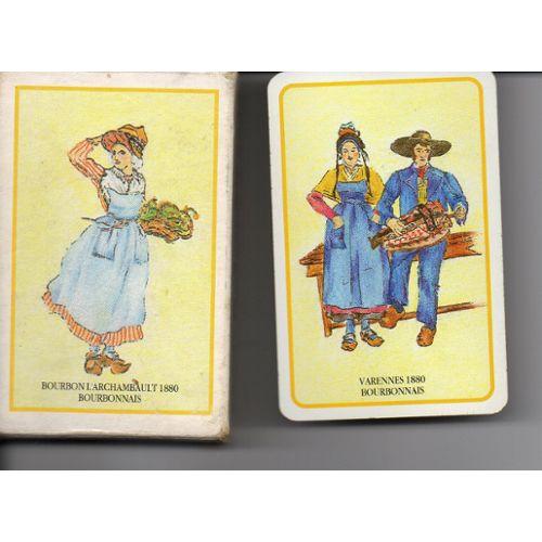 Jeu De 54 Cartes, Costumes Traditionnels Varennes 1880, Bourbonnais