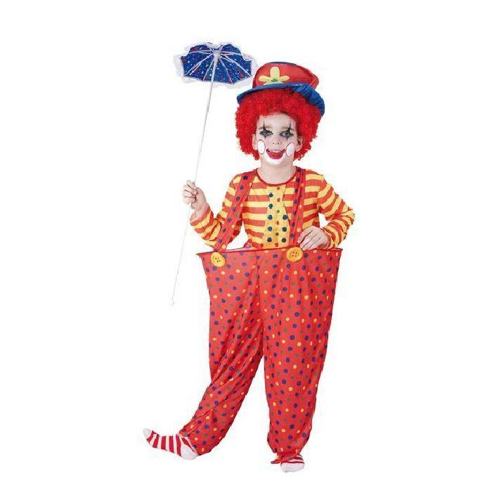 Costume enfant Clown Rouge avec cerceau Costume enfant Clown Rouge