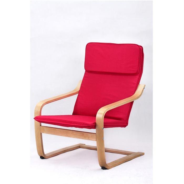 Rouge Achat / Vente chaise de bureau Contreplaqué tissu