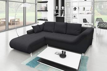 Canapé d'angle angle gauche convertible tudor noir Le Depot Du Web