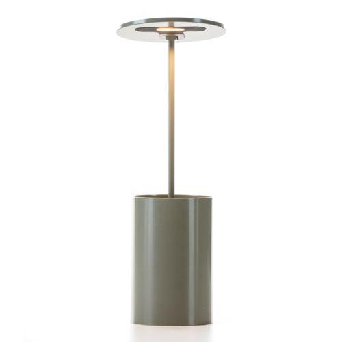 Formagenda E.T Lampe de bureau/Pot à crayons lumineux Led Gris H26