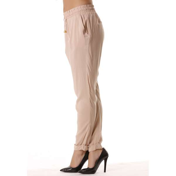Miss Wear Line Pantalon Ample Rose Poudré Avec Élastique À La