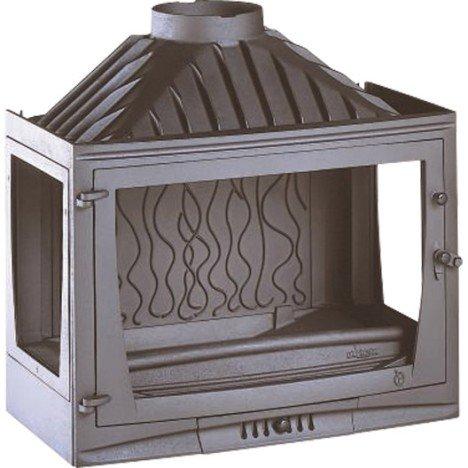 Foyer à bois façade droite INVICTA 6769 03 14 kW |