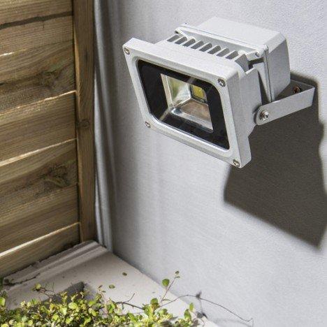 Projecteur à fixer extérieur Yonkers LED intégrée aluminium