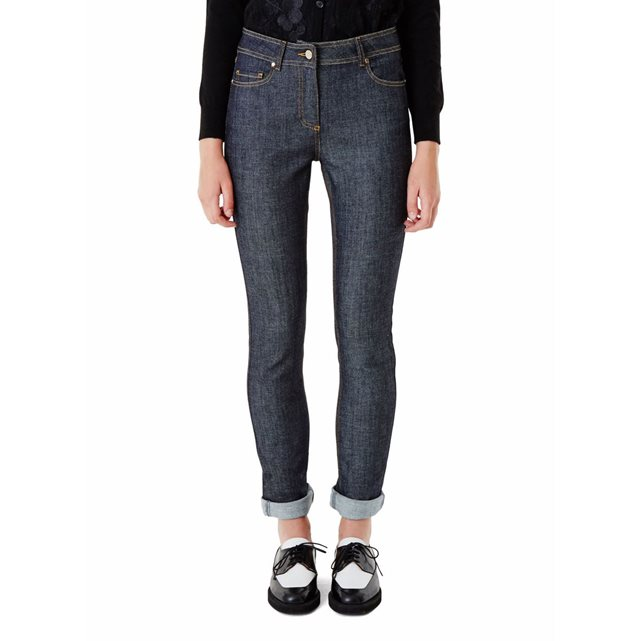 Jean slim en denim stretch indigo Carven