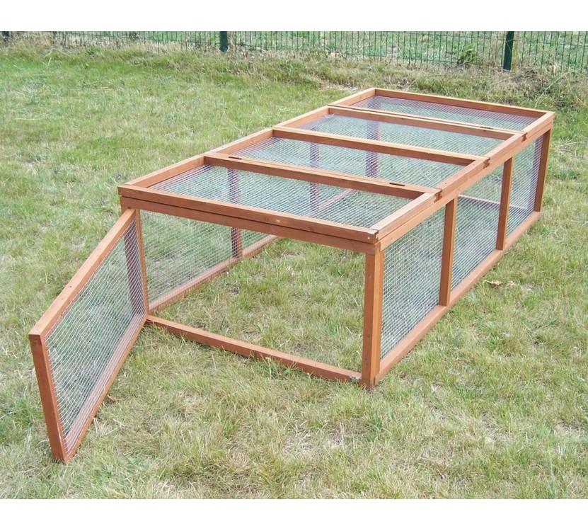 Enclos poulailler clapier à lapins en bois 1,62 m² / 4