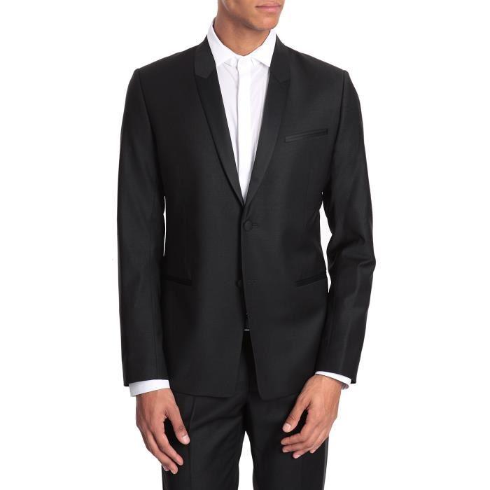 Veste de smoking noire Carter pour homme Veste habillée coupe