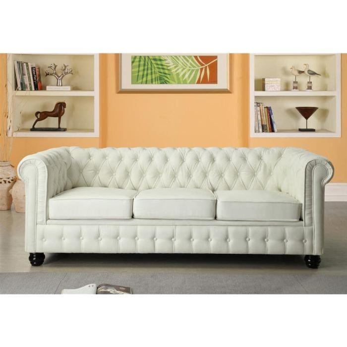 chesterfield canape en cuir et simili 3 places 2