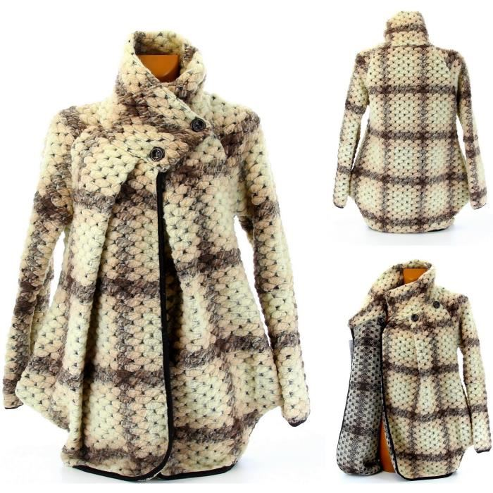 manteau en laine femme topiwall. Black Bedroom Furniture Sets. Home Design Ideas