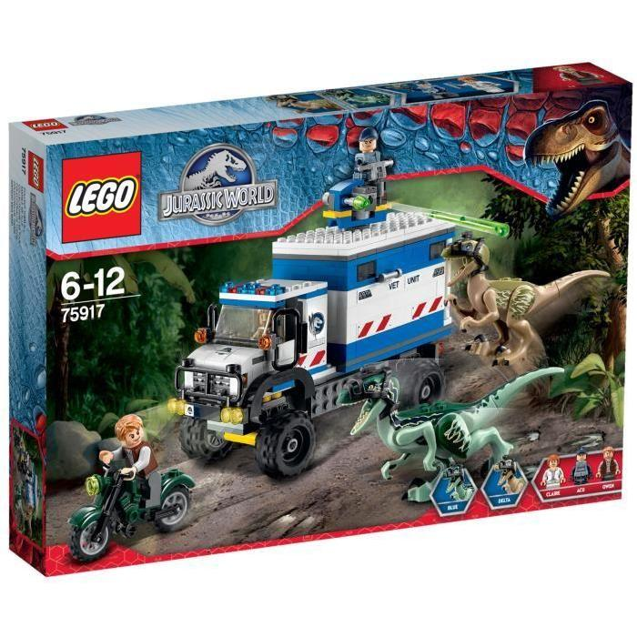 LEGO Jurassic World 75917 La Destruction du Vélociraptor Garçon