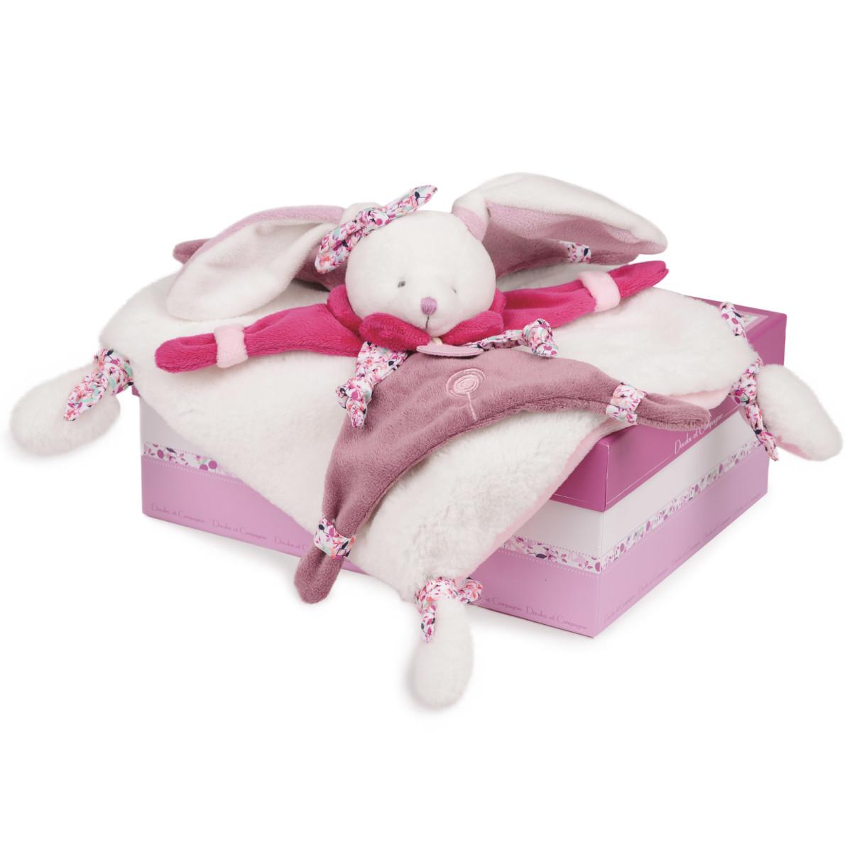 Cerise le lapin doudou Violet de Doudou et compagnie, Doudous : Aubert