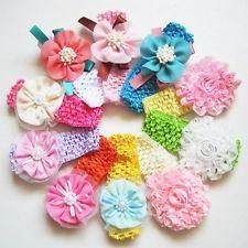 10 PIÈCES Fleur Enfants Bébé Fille Bandeau À Cheveux Noeud