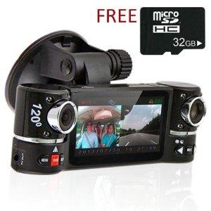 Indigi ® Dash Cam 2.7 «LCD TFT pivotant Pour Objectif Caméra double
